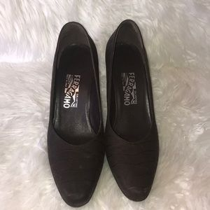 Salvatore Ferragamo brown leather shoes size 8